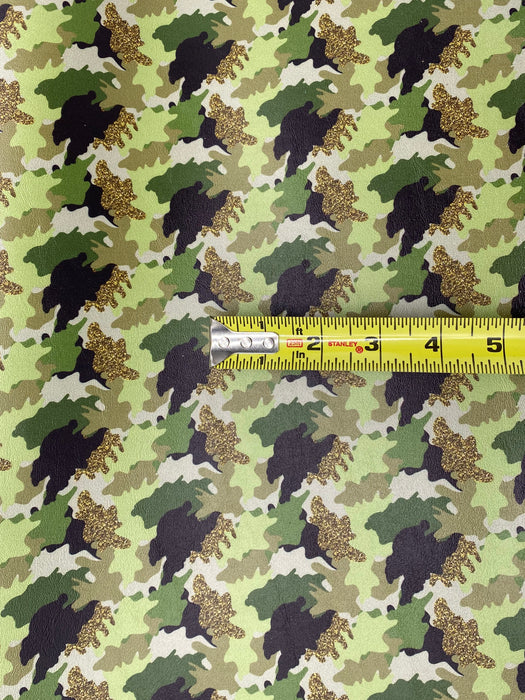 Glam Camo Printed Marine Vinyl Faux Leather