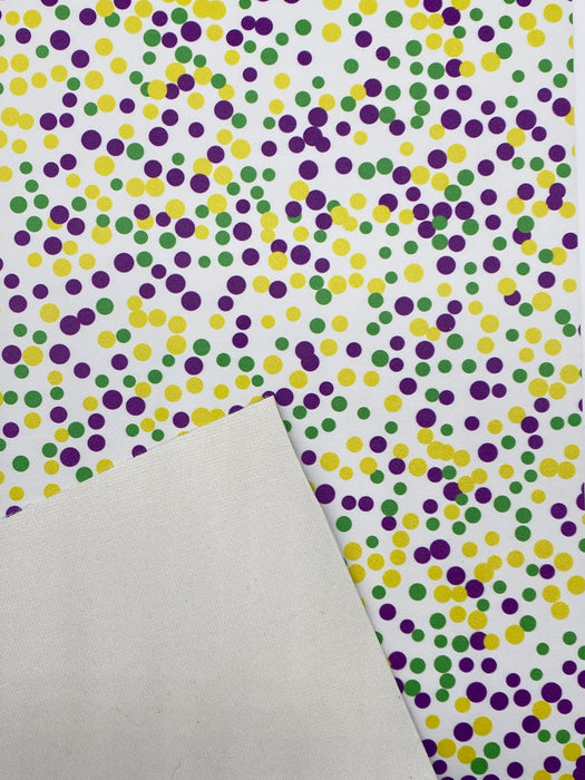 Mardi Gras Printed Marine Vinyl Faux Leather