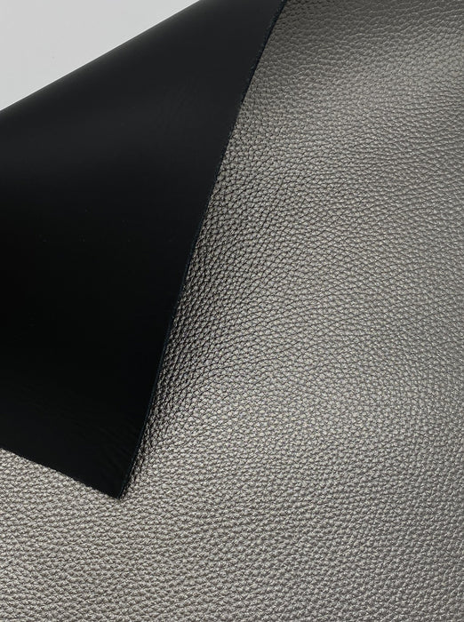 Pewter Metallic Double Sided Cowhide Leather Panels