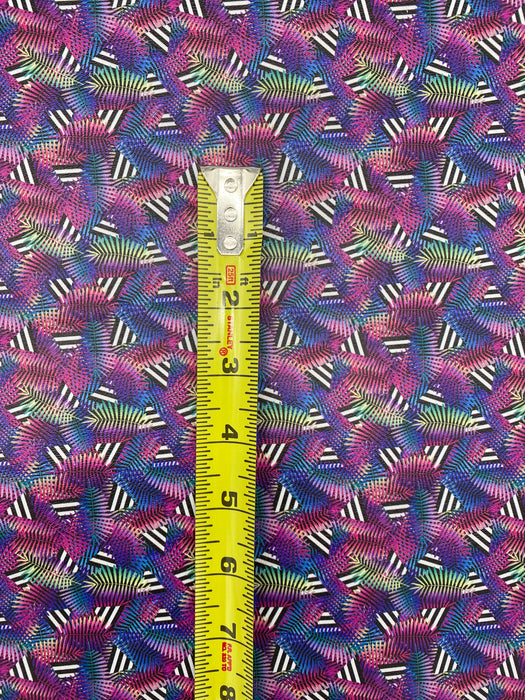 Tropical Geometric Printed Marine Vinyl Faux Leather
