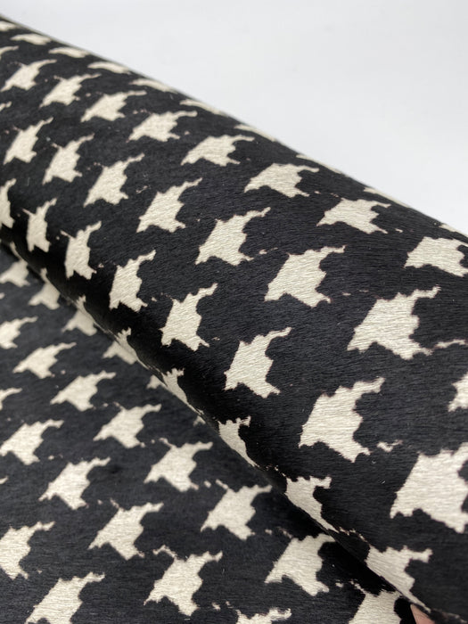 Houndstooth Hair On Cowhide Sides