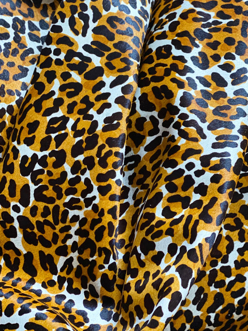 Splashed Leopard Hair-On Cowhide Side