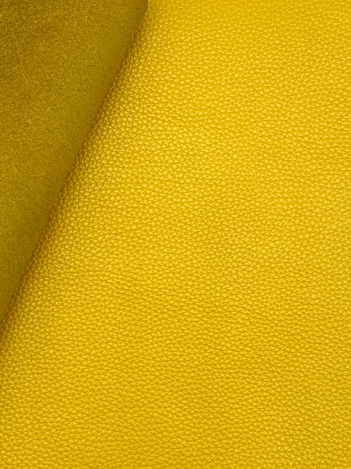 Canary Yellow Cowhide Leather Sheet