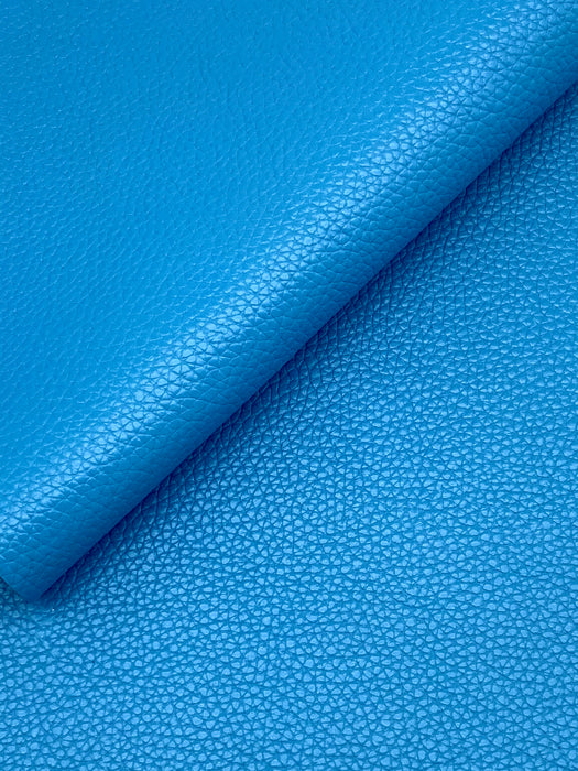 Sky Blue Cowhide Leather Sheet