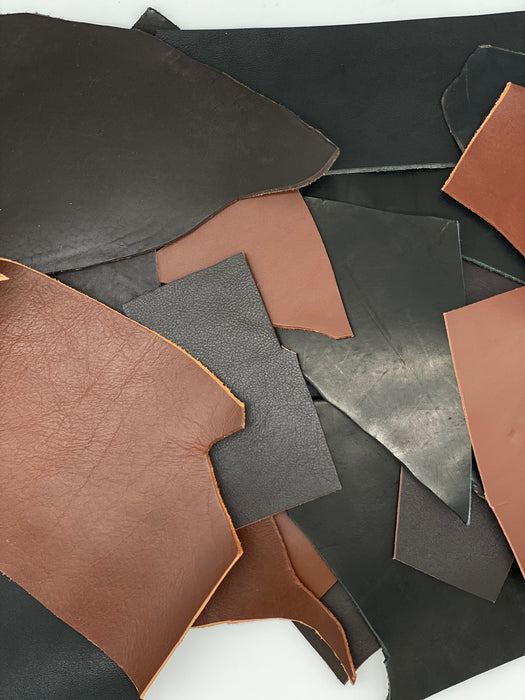 Heavy Weight Veg Tan Leather Scrap - 5lbs