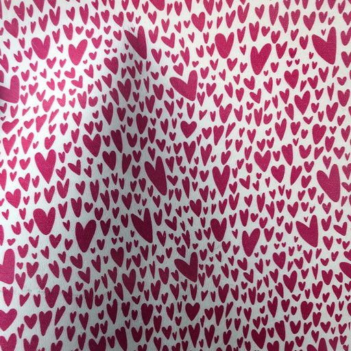 It's Raining Love - Heart Printed Leather