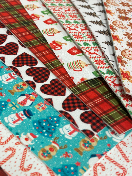 Holiday Printed Faux Leather Scrap Pack