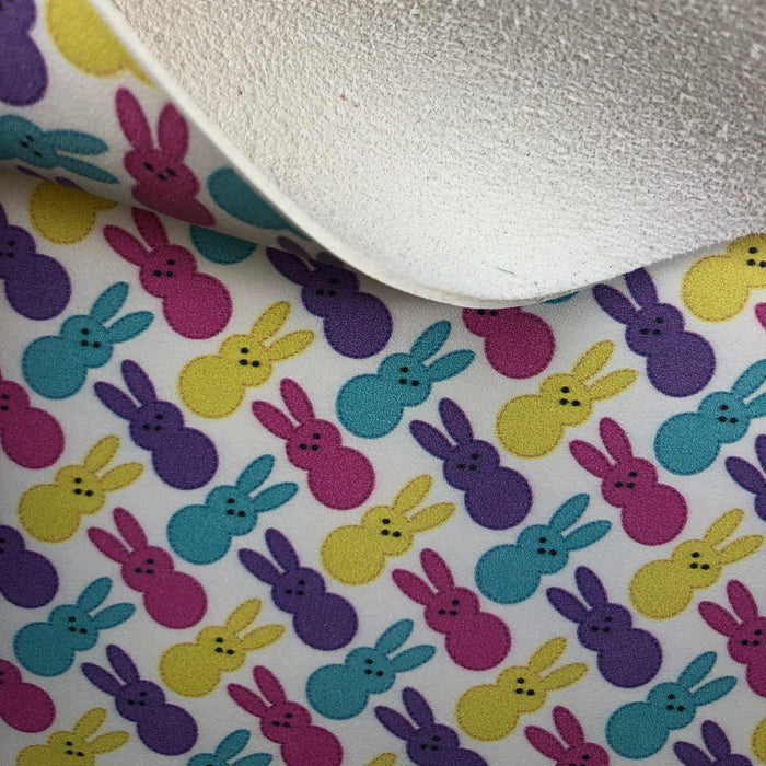 Marshmallow Bunnies Printed Leather