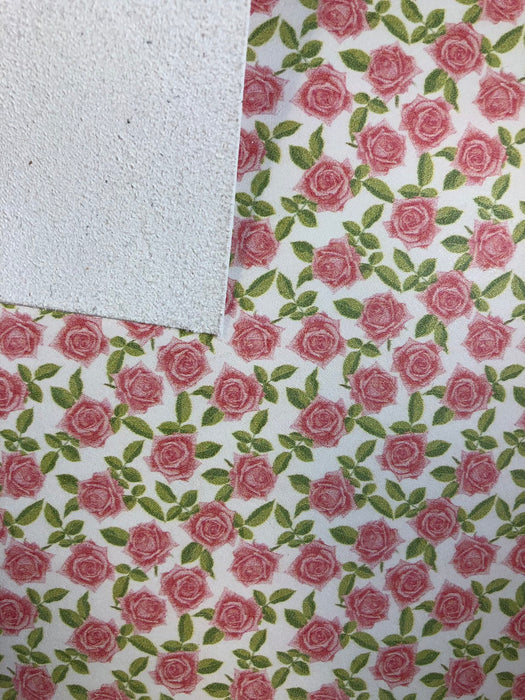 Petite Roses Printed Leather
