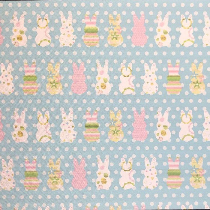 Easter Bunnies Printed Faux Leather
