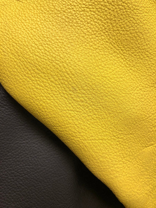 Yellow Top Grain Leather Sheet