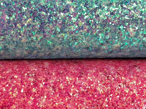 Fine Glitter Sheet Faux Leather