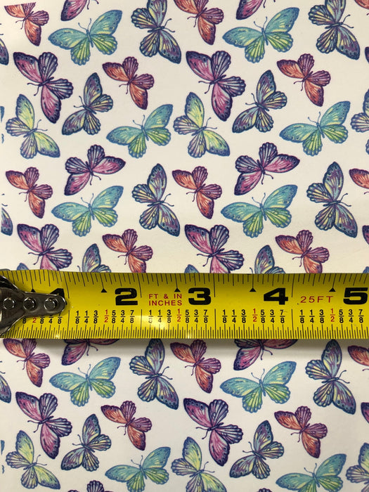 Butterfly Printed Leather