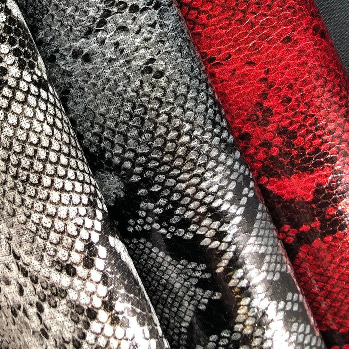 Snake Print Faux Leather Sheet