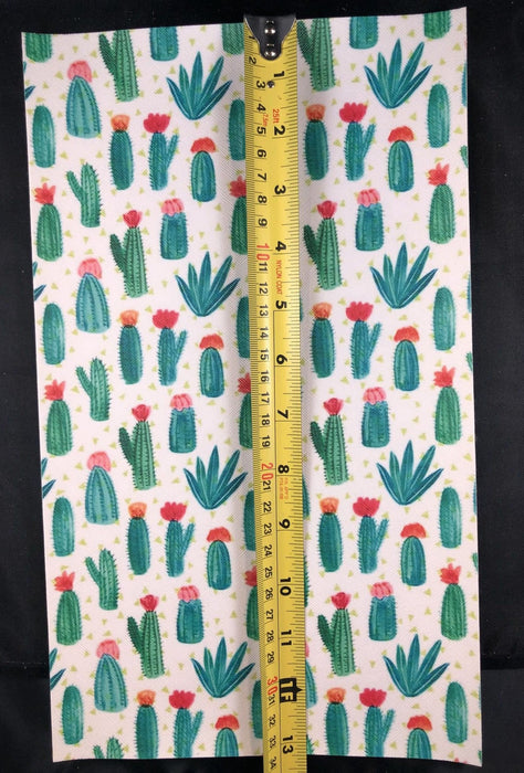 Cactus Printed Faux Leather