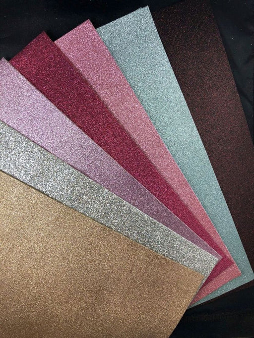 Glitter Faux Leather Sheet