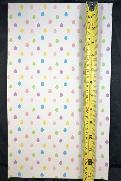 Pastel Egg Faux Leather Sheet