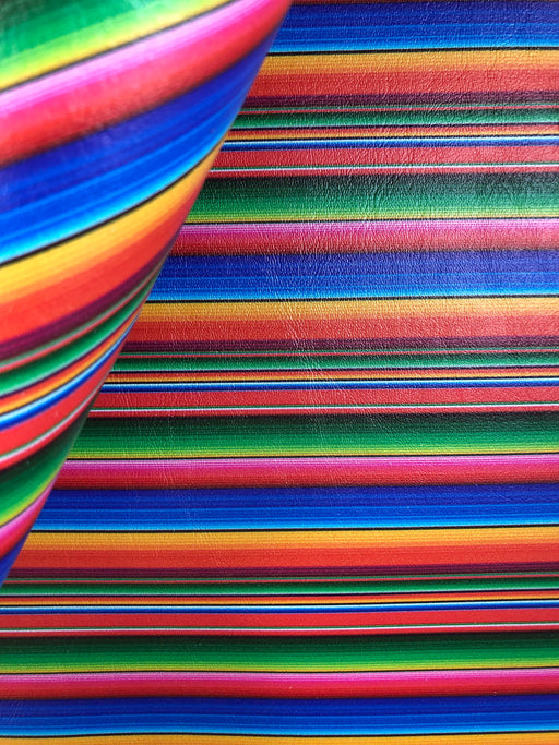 Serape Printed Marine Vinyl Faux Leather