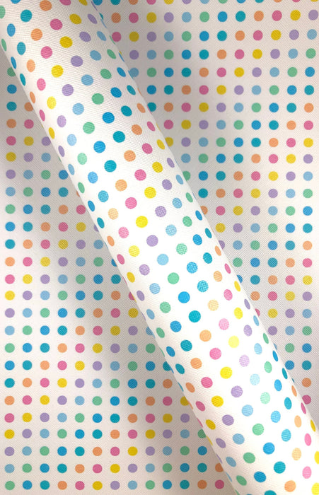 Candy Dots Print Faux Leather