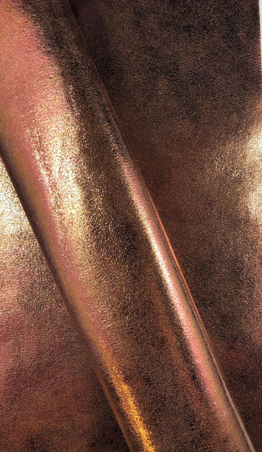 Bronze Metal Printed Faux Leather