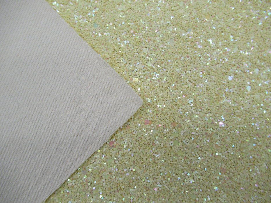 Sand Dollar Pale Glitter Faux Leather Sheet