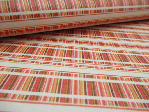 Fall Stripe Printed Marine Vinyl Faux Leather