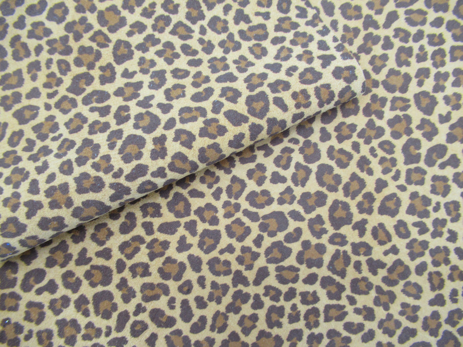 Leopard Pigskin Leather Panels