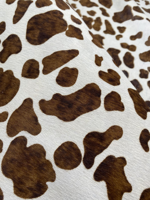 Printed Hair On Cowhide - Spotted