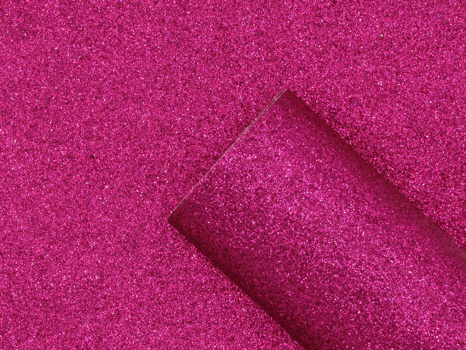 Raspberry Extra Fine Glitter Printed Faux Leather Sheet