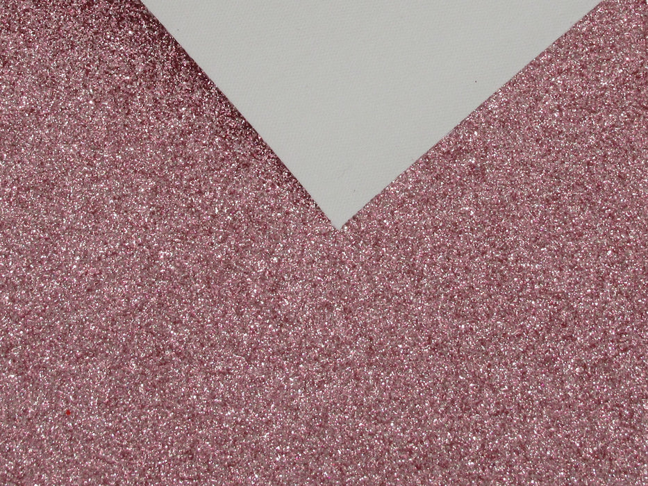 Carnation Extra Fine Glitter Faux Leather Sheet