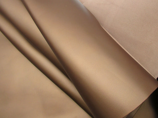 Frosted Metallic Bronze Cowhide Leather Side