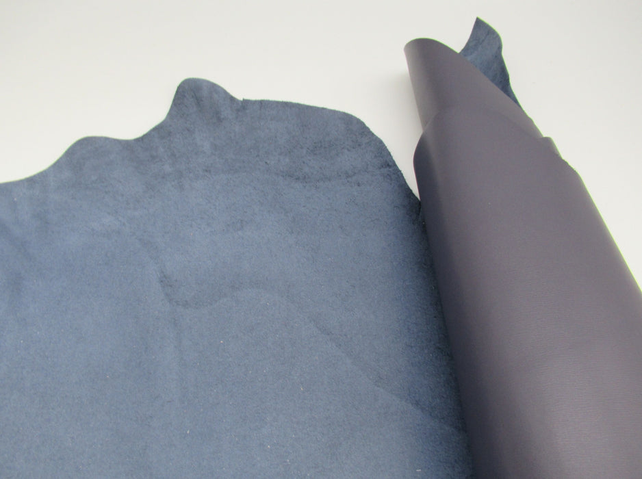 Full grain Handbag Sides-Slate Blue