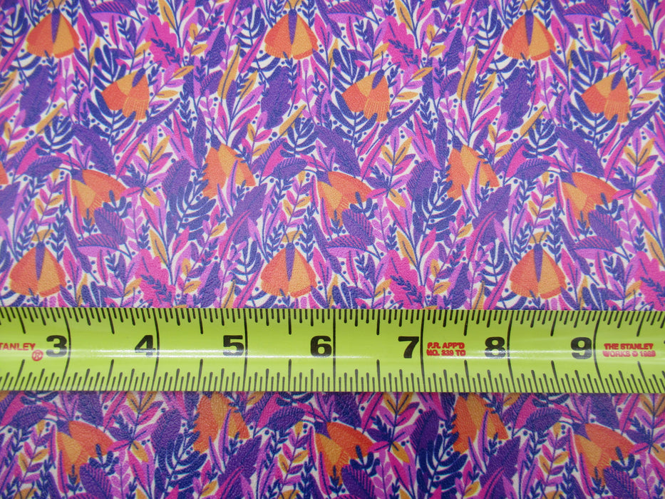 Mystic Garden Printed Marine Vinyl Faux Leather