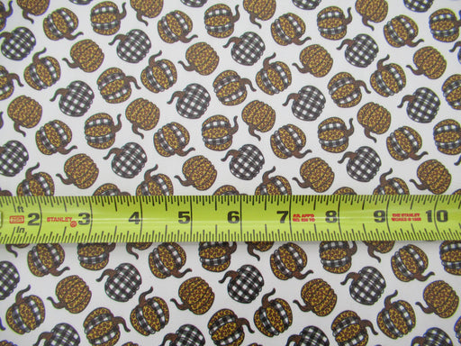 Fall Leopard Pumpkin Printed Marine Vinyl Faux Leather