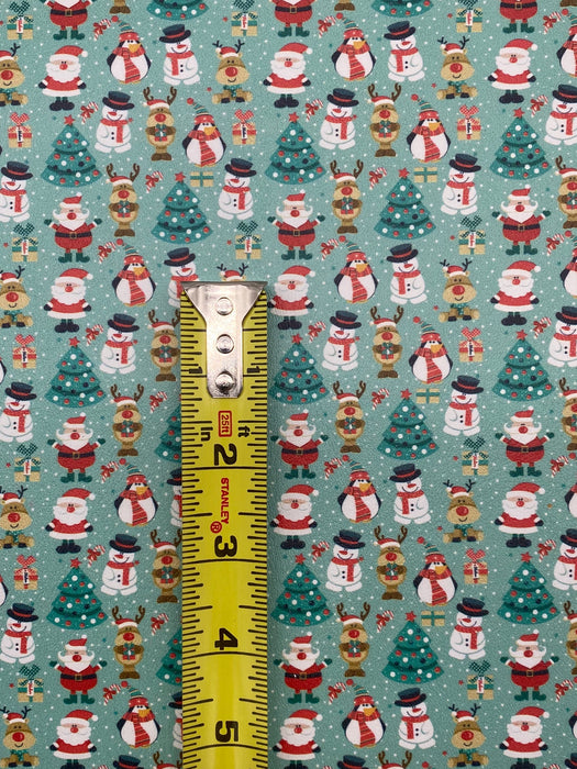 Jolly Holiday Printed Marine Vinyl Faux Leather