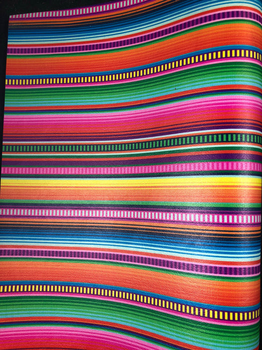Braided Serape - Printed Upholstery Vinyl Faux Leather