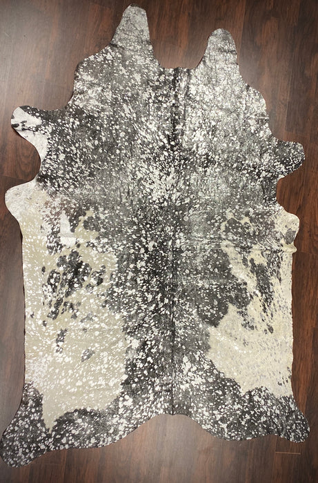 Acid Wash Hair-On Cowhide Rug - Silver