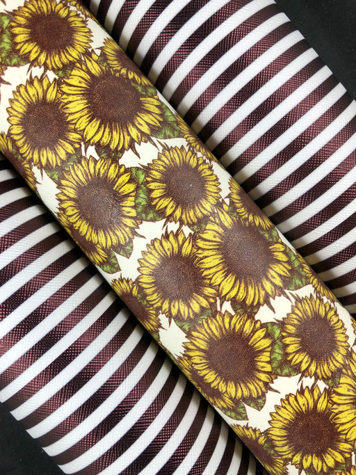 Sunflower Printed Leather