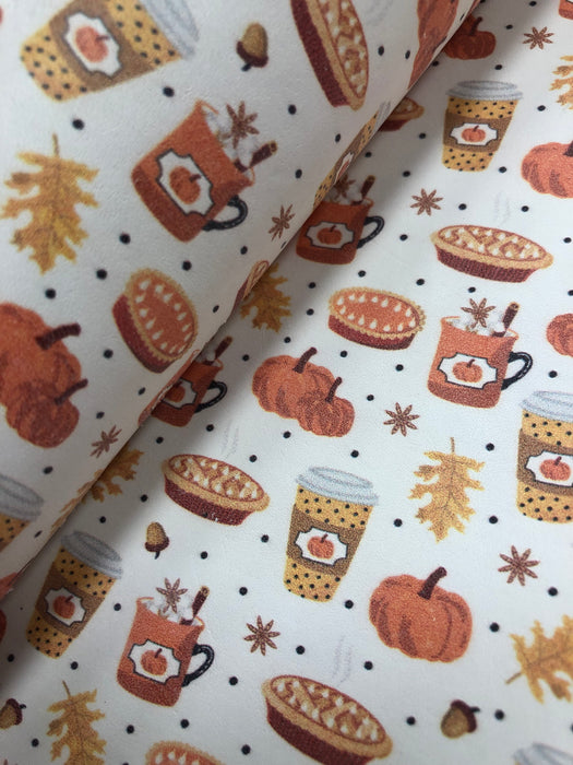 Pumpkin Spice Printed Leather