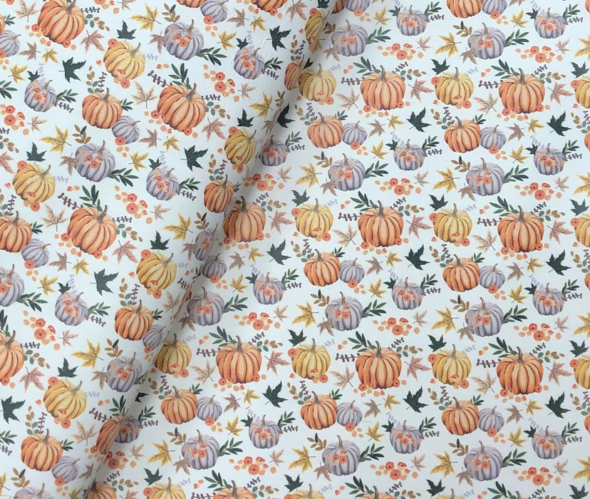 Pumpkin Patch Printed Leather