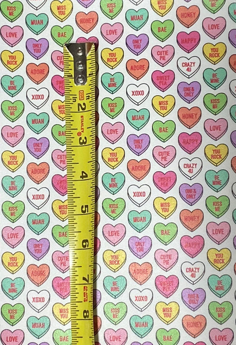 Valentine Heart Candy Printed Leather