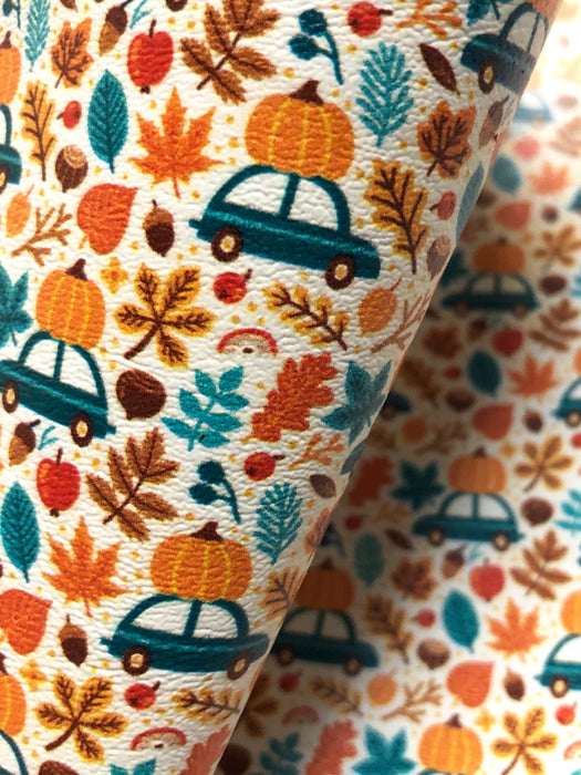 The Perfect Pumpkin - Printed Marine Vinyl Faux Leather