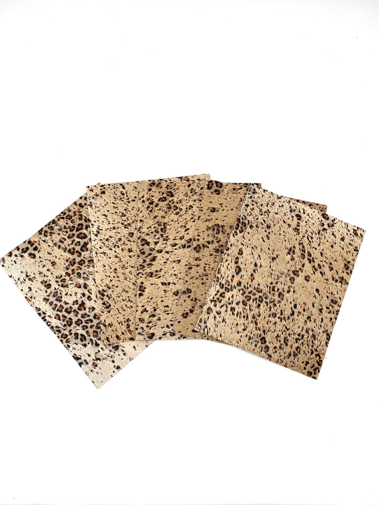 Baby Cheetah Acid Wash Hair-On Cowhide Panels