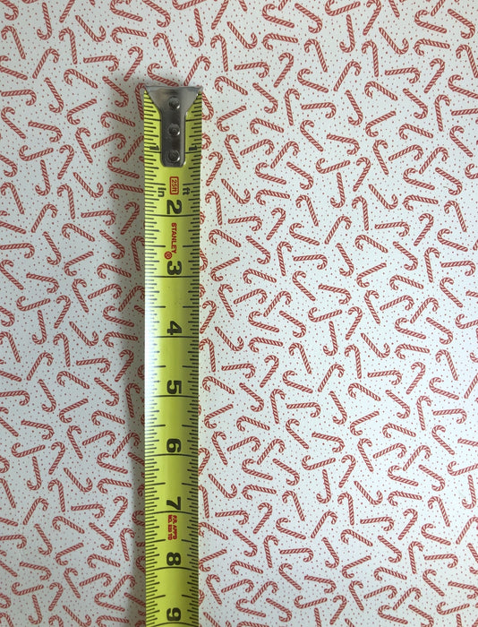 Candy Cane Polka Dot Printed Leather