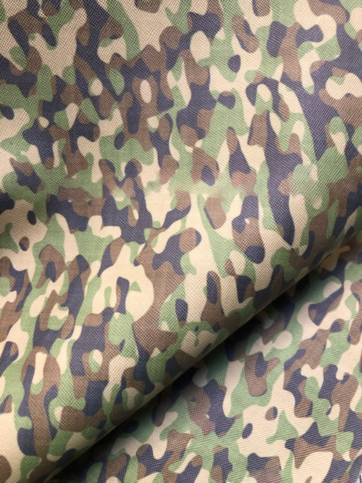 Camo Printed Faux Leather