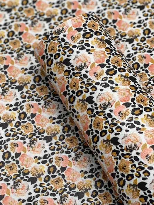 Wild Blossom Printed Marine Vinyl Faux Leather
