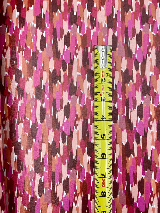 Mauve Brushstrokes Printed Marine Vinyl Faux Leather
