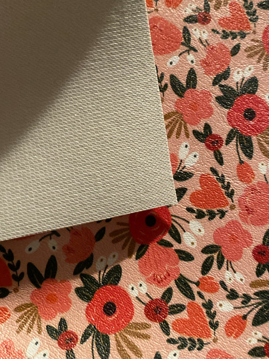 The Perfect Bouquet- Printed Marine Vinyl Faux Leather