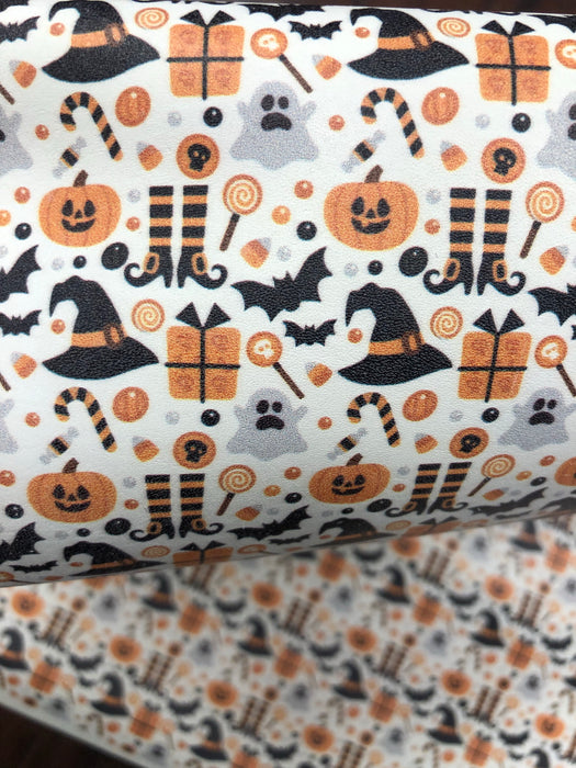 Halloween Printed Leather