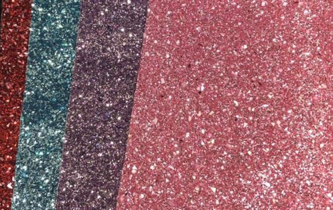 Chunky Glitter Sheet Faux Leather